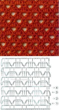 Watch This Video Beauteous Finished Make Crochet Look Like Knitting (the Waistcoat Stitch) Ideas. Amazing Make Crochet Look Like Knitting (the Waistcoat Stitch) Ideas. Crochet Lace Scarf, Crochet Motifs, Crochet Diagram, Crochet Stitches Patterns, Crochet Chart, Crochet Squares, Knitting Stitches, Crochet Designs, Love Crochet