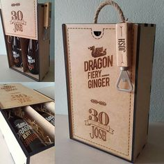 Custom engraved wooden box we made to hold a couple of fiery ginger beers,with in a custom engraved bottle opener. Custom Engraving, Wooden Boxes, Boy Birthday, Bottle Opener, Hold On, Beer, Canning, Instagram Posts, Couple