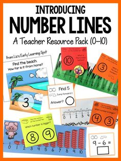 Lots of number lines for teachers and students with tons of task card activities including learning addition & subtraction! $