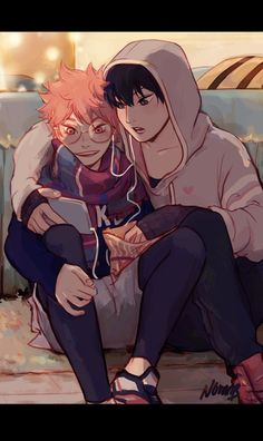 kagehina- this image is too cute!!