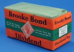 Brook Bond Dividend Tea - My mother collected the stamps and once her card was full she received 5 shillings. Do you remember this tea.