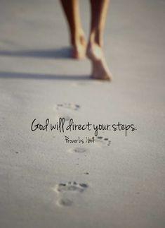 God will direct your steps quotes beach god life feet faith christian steps