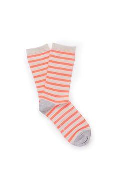 stripe crew sock - country road