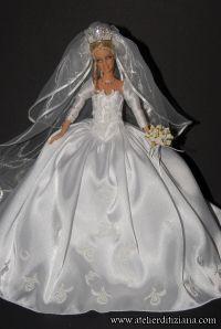 Barbie Bridal, Barbie Wedding Dress, Wedding Doll, Barbie Gowns, Barbie Dress, Barbie Clothes, Wedding Gowns, Barbie Style, Barbie Sewing Patterns