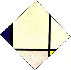 1925_Piet Mondrian_lozenge-composition-with-black-blue-and-yellow-