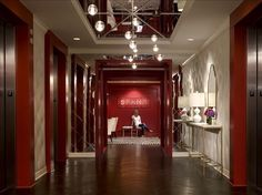 What a spectacular reception area by the very successful company Spanx.