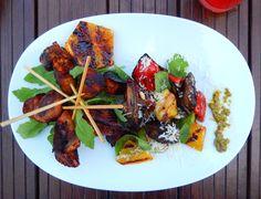 Roasted honey turkey sckewers Cobb Salad, Roast, Turkey, Honey, Food, Turkey Country, Essen, Yemek, Meals