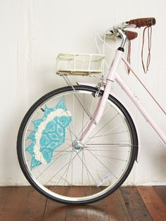 Free People Crochet Skirt Bike Guards. Maybe they could make one for my chair?!