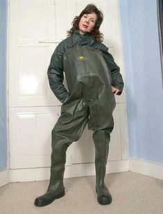Pvc Hose, Green Raincoat, Latex Lady, Rubber Raincoats, Rain Gear, Weather Wear, Rain Boots, What To Wear, Winter Jackets