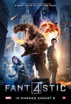 New 'Fantastic Four' posters features the film's heroes front and center, with the villainous Doctor Doom looming in the background. 2015 Movies, Hd Movies, Movies To Watch, Movies Online, Movie Tv, Film Online, Movies Free, Comic Movies, Comic Book