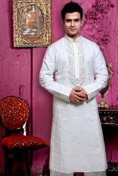 Imperial White Kurta Indian Pakistani Party Wear Kurta ECL Pyjama Pajama | eBay