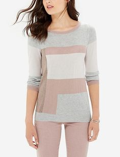 Colorblocked Sweater - Another favorite for this fall. Lightweight and warm.
