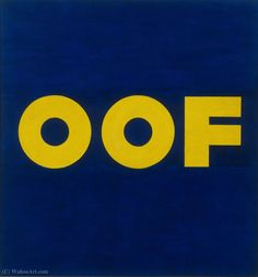 Oof by Edward Ruscha