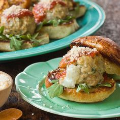 Recipe: Cheesy Chicken & Mozzarella Meatball Sliders Recipes from The Kitchn