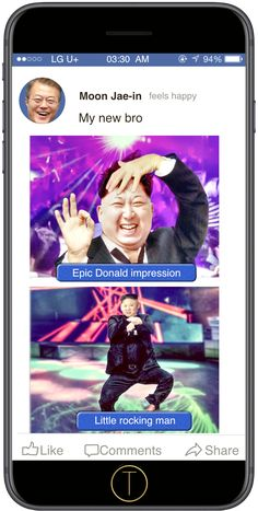 Modern original digital art of funny animas. Wall art displayed with humor and satire. Prints of panda, flamingo and ohter animals. Satire News, Political Satire, North Korea, Feeling Happy, Brother, Weird, Funny Pictures, Digital Art, Universe