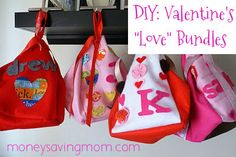 DIY: Valentine's Love Bundles. Simple and cute!