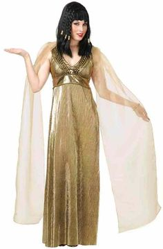 Empress Nile Cleopatra Gold Egyptian Queen Fancy Dress Halloween Adult Costume…