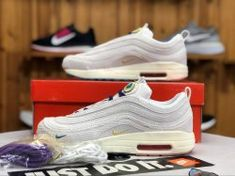 0668352e9670 Nike Air Max 97 1 Sean Wotherspoon Beige Blue AJ4219-100 Sneaker Women s  Men s