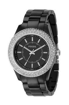 Fossil Crystal Rim Watch