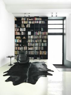 My one goal in life- to own a library with a ladder!