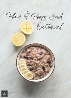Plum Poppy Seed Oatmeal (vegan, gluten-free) - this oatmeal is really easy to make and it's the perfect healthy breakfast to fuel you through the day! Plums, oats, almond milk, poppy seeds, and a few spices. YUM! | http://thehealthfulideas.com