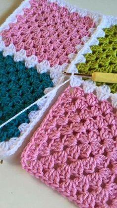 Best Ideas For Crochet Lace Pattern Motif Granny Squares Crochet Afghans, Striped Crochet Blanket, Crochet Squares Afghan, Crochet Motif, Crochet Lace, Granny Squares, Crochet Granny, Free Crochet Bag, Crochet Amigurumi Free Patterns