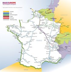 france train map of entire tgv high speed train system with all the