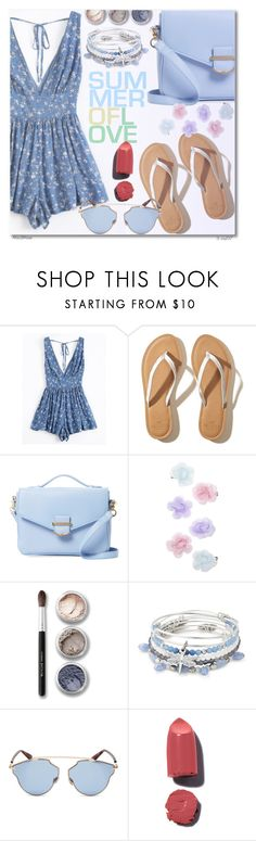 """Summer Of Love"" by octobermaze ❤ liked on Polyvore featuring Hollister Co., Cynthia Rowley, Monsoon, Bare Escentuals, Alex and Ani and Christian Dior"