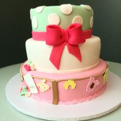 The its a girl cake