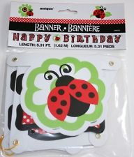 Red LADYBUG 1st Birthday ~(1) Banner~ Party Supplies Decoration. Ebay