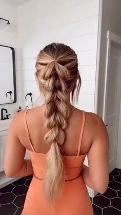 Hairdo For Long Hair, Easy Hairstyles For Long Hair, Up Hairstyles, Protective Hairstyles, Braided Hairstyles Tutorials, Hair Extension Hairstyles, Style Long Hair, Long Hair Tutorials, Simple Hairstyles For Long Hair