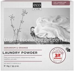 Suitable for all temperatures, ideally wash in warm water. Use only one scoop (40ml) of powder and either place in the powder dispenser or pre-dissolve in a little warm water. Do not put the powder directly onto clothes. If clothes are very soiled, soak overnight or use ecostore pure oxygen whitener. Safe for septic tanks and grey water systems. We don't add anti-caking agents to our powders so it is important to re-seal the bag after every use to keep any moisture out. Grey Water System, Water Systems, Whitening, Sodium Citrate, Sodium Bicarbonate Baking Soda, Essential Oils, Pure Products, Organic, Laundry Powder