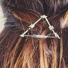 Simple Solid Color Arrow Triangle Hairpin For Women #CLICK! #clothing, #shoes, #jewelry, #women, #men