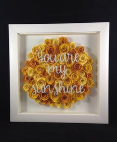 Paper Flower Shadow Box by AJenCreation on Etsy