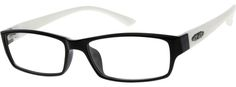 2487 Flexible Plastic Full-Rim Frame Glasses Frames, Eye Glasses, Optical Glasses, Black Rectangle, Cool Eyes, Flexibility, Lens, Plastic, Unisex