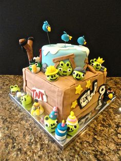 Angry Birds edible fondant cake figures by CakesbyKaty on Etsy