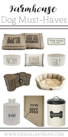Farmhouse Dog Items on Amazon! Seriously, how CUTE are these?! [ad] #affiliate