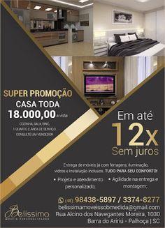 Móveis Sob Medida Belíssima: SUPER PROMOÇÃO - CASA TODA - Cozinha, Sala, Quarto...