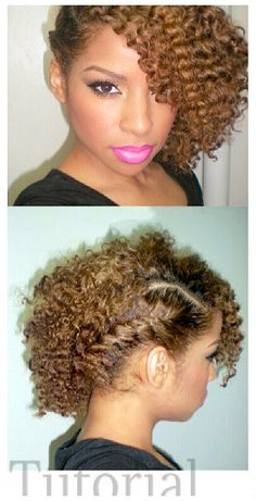 Side braid with twist out. natural hair must do!