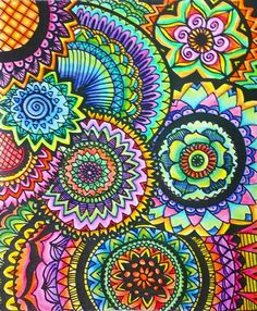 ColorIt Calming Doodles Volume 1 Colorist: Marla Theodoro #adultcoloring #coloringforadults #adultcoloringpages #doodle