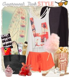 """""""60 Second Style: Amusement Park"""" by gokarm on Polyvore"""