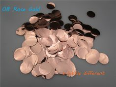 2.5cm(1inch) 30g/bag Wedding PVC Rose Gold Circle Confetti For Balloon Filling Baby Shower Birthday Party Table Decoration-in Banners, Streamers & Confetti from Home & Garden on Aliexpress.com   Alibaba Group