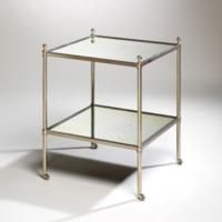 Vaughan Mirror Etagere, 2 Tier Vaughan Ltd, British design, heritage, traditional, mirror, luxury, interior, design, luxury, glass, silver, bronze, nickel, style, modern, contemporary, elegant, British made, handmade, gold, classic.