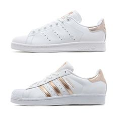 A brand new JD exclusive adidas women's pack has just dropped: the ADIDAS ORIGINALS WOMEN'S ROSE GOLD PACK.  JD Sports have just released a new white adidas Superstar and Stan Smith for summer, and they both have gorgeous Rose Gold detailing for that prestige touch. The Stan Smith sticks to it