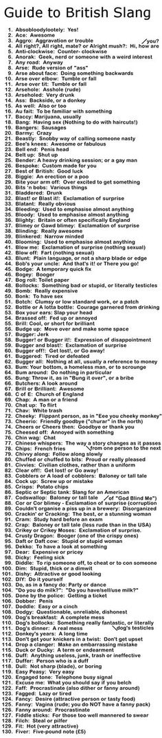 Essential British Slang Guide http://www.funny-joke-pictures.com/2015/12/british-slang-guide.html