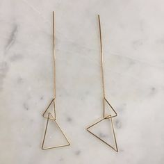 'Isosceles Triangle' Dangle Earrings