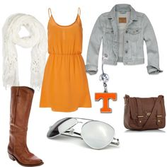 """GO VOLS!"" by aungleich on Polyvore"