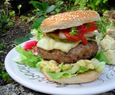 The Towering Inferno! Chilli, Coconut and Coriander Pork Burger
