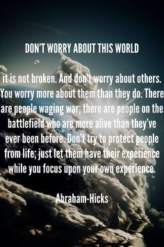 Abraham Hicks about war