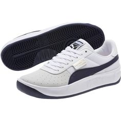 Puma California Casual Unisex Sneakers Unisex Adult, Size: P White-Peacoat-P White Mens Puma Shoes, Nike Tennis Shoes, Puma Tennis, Male Shoes, Pumas Shoes, Casual Leather Shoes, White Casual Shoes, Best Sneakers, Nike Free Shoes
